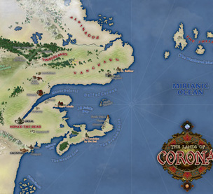 Demonwars: The Lands of Corona Map (Ultra-Res)